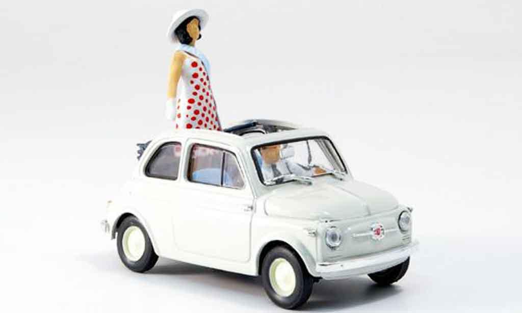 Fiat 500 1/43 Brumm Nuova Prasentation in Turin avec Figuren 1957 diecast