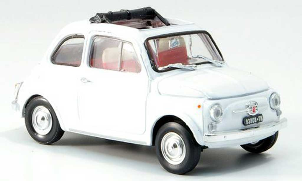 Fiat 500 1/43 Brumm F blanche geoffnetes Faltdach 1965 miniature