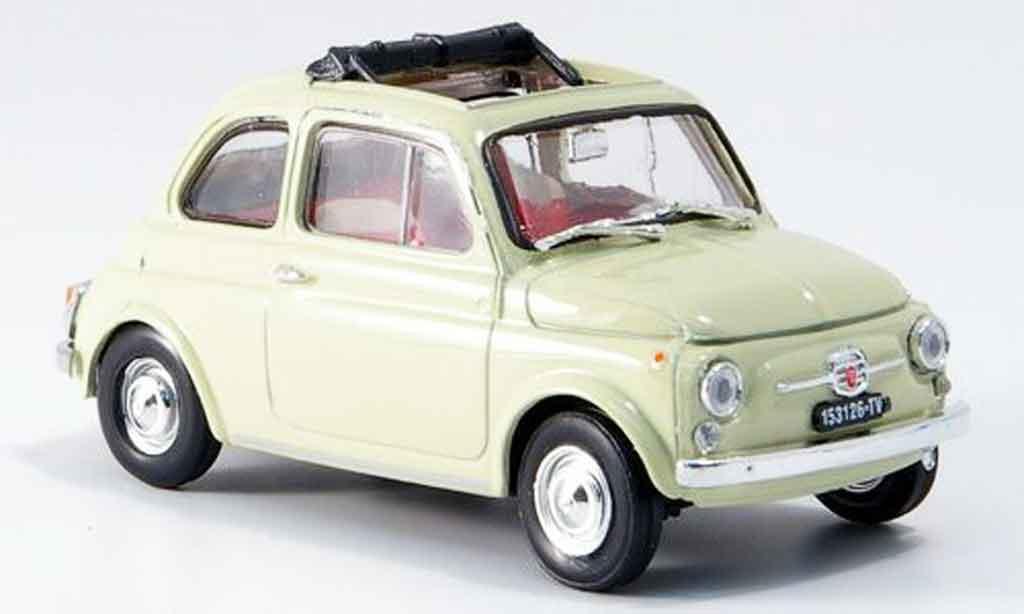 Fiat 500 1/43 Brumm F creme geoffnetes Faltdach 1965 diecast