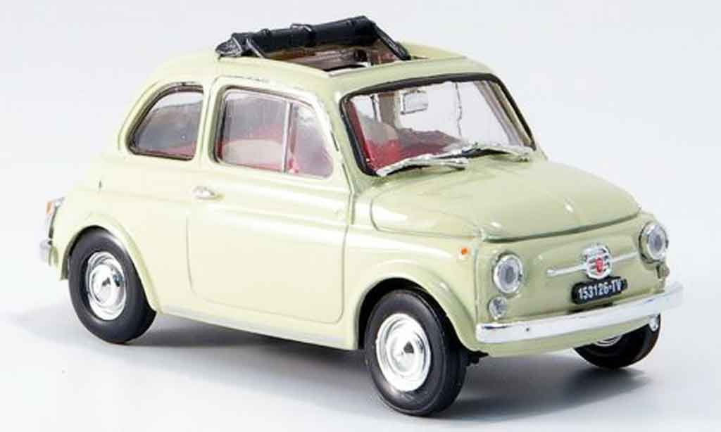 Fiat 500 1/43 Brumm F creme geoffnetes Faltdach 1965 miniature