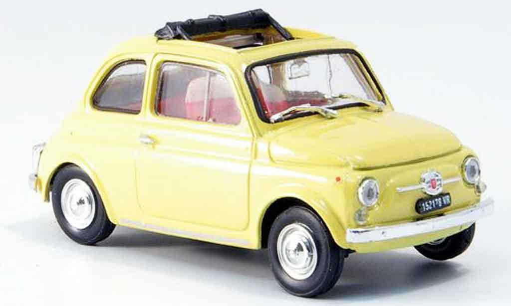 Fiat 500 1/43 Brumm F jaune geoffnetes Faltdach 1965 miniature