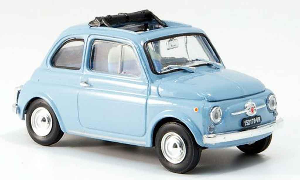 Fiat 500 1/43 Brumm F himmelbleu geoffnetes Faltdach 1965 diecast