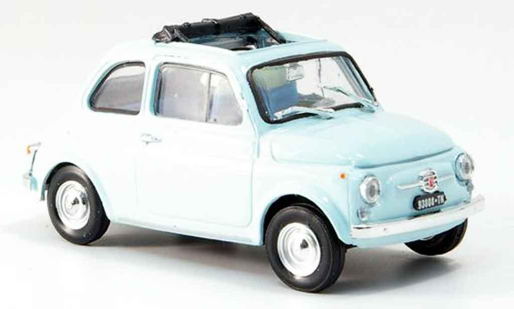Fiat 500 1/43 Brumm F bleu geoffnetes Faltdach 1965 miniature