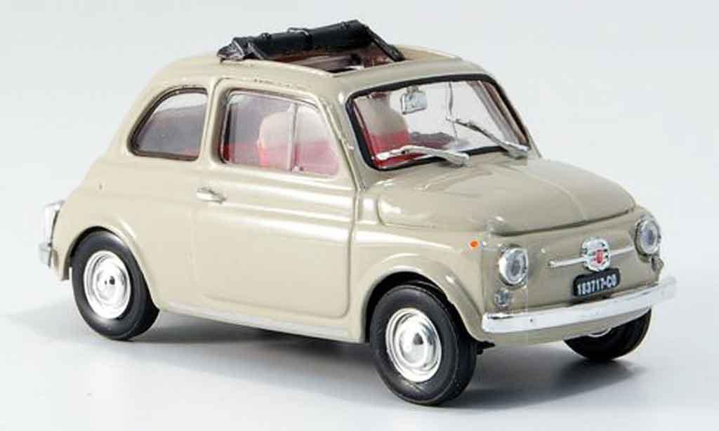 Fiat 500 1/43 Brumm F sandbeige geoffnetes Faltdach 1965 miniature