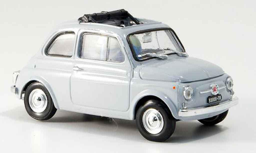 Fiat 500 1/43 Brumm F grey geoffnetes Faltdach 1965 diecast model cars