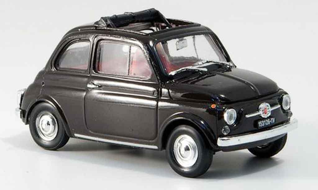 Fiat 500 1/43 Brumm F marron geoffnetes Faltdach 1965 miniature