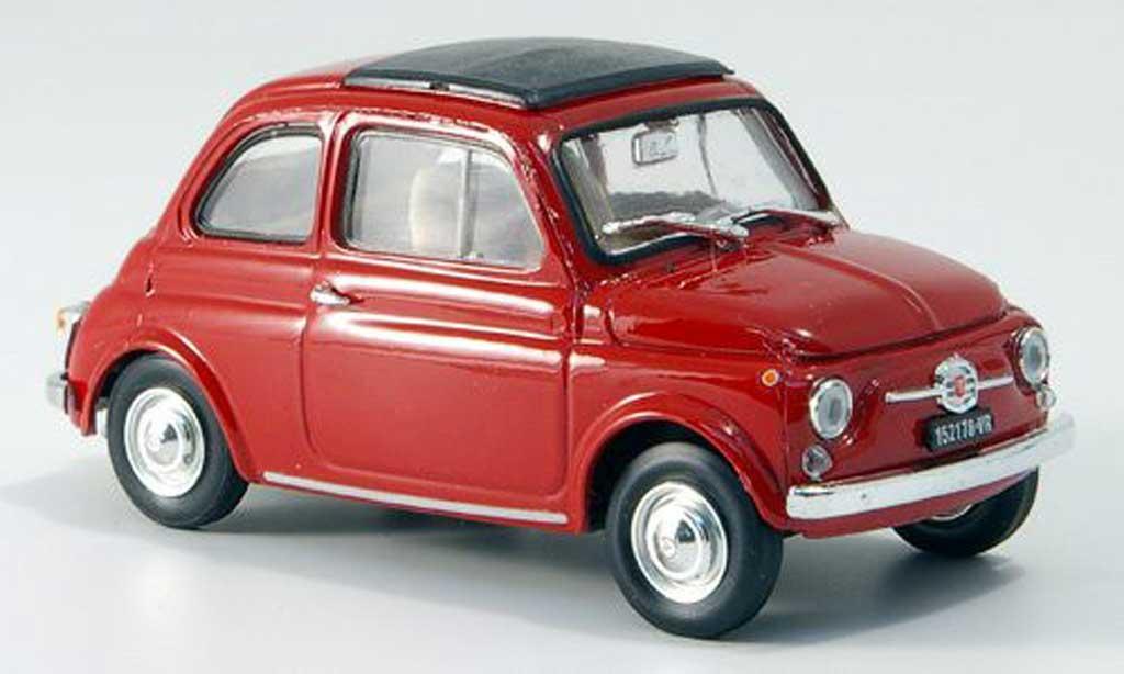 Fiat 500 F 1/43 Brumm F red geschlossenes Faltdach 1965 diecast model cars