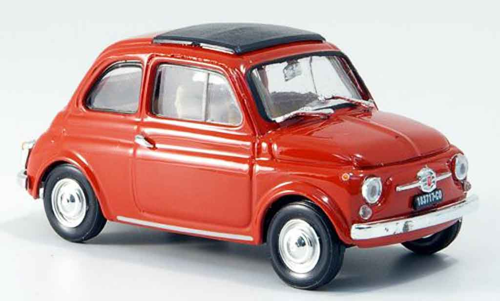 Fiat 500 1/43 Brumm F korallenred  avec capote Faltdach 1965 diecast