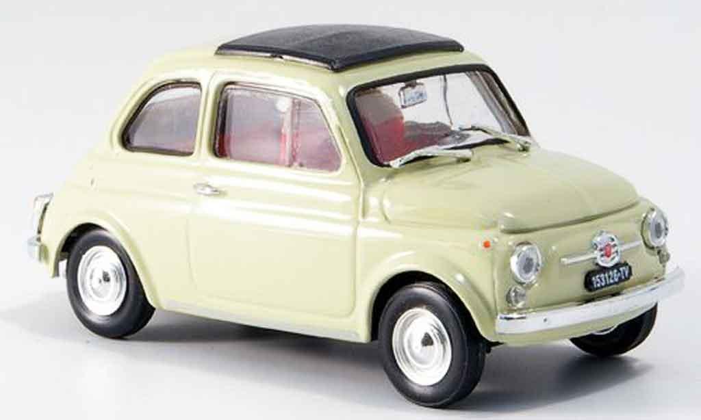 Fiat 500 1/43 Brumm F creme  avec capote Faltdach 1965