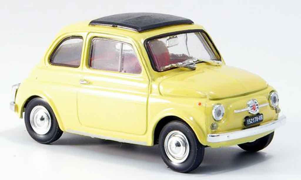 Fiat 500 1/43 Brumm F yellow  avec capote Faltdach 1965 diecast