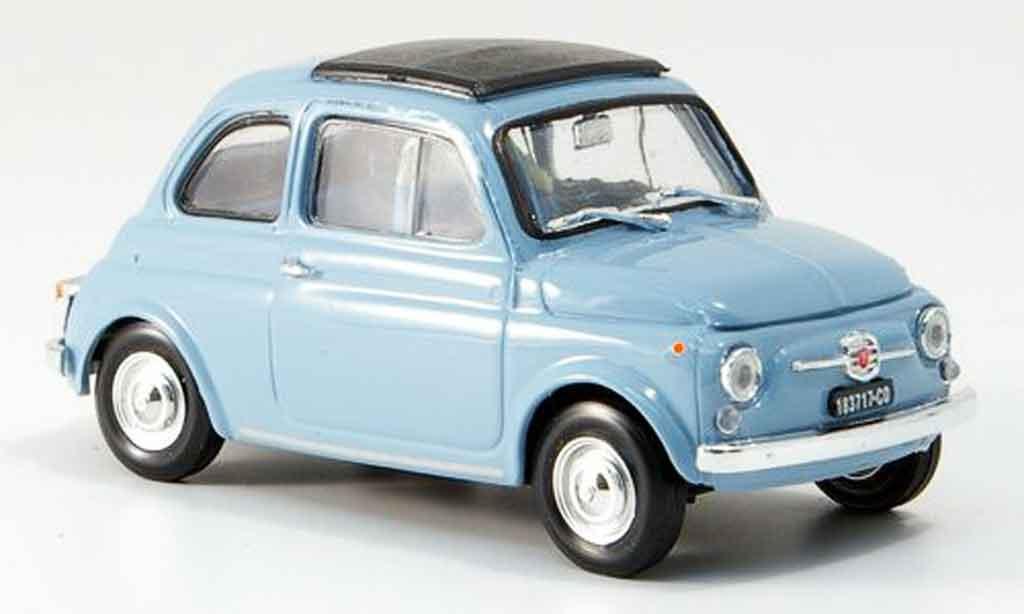 Fiat 500 1/43 Brumm F himmelbleu  avec capote Faltdach 1965 miniature