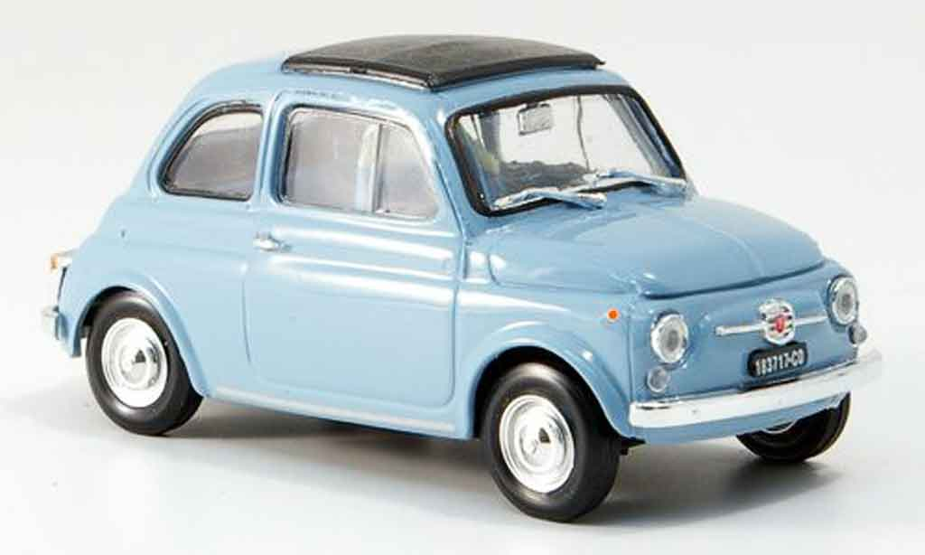 Fiat 500 1/43 Brumm F himmelbleu  avec capote Faltdach 1965 diecast