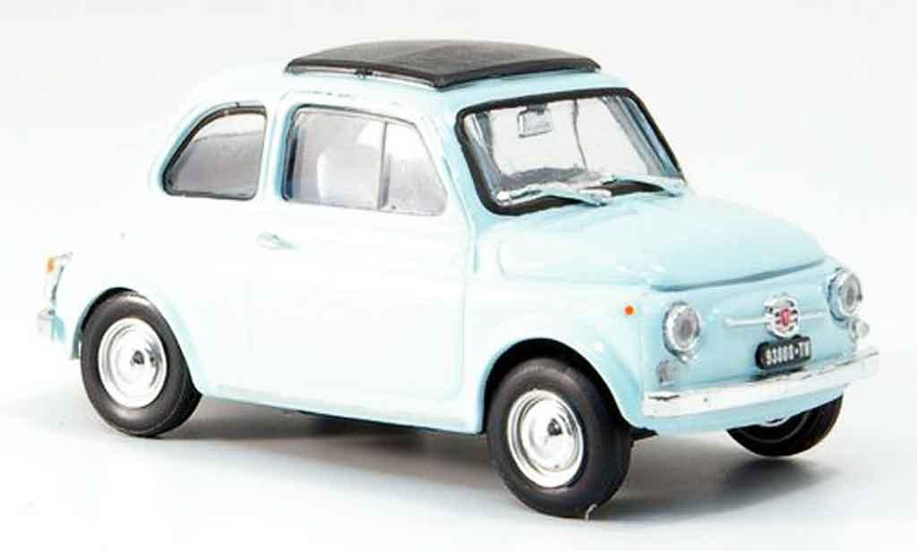 Fiat 500 1/43 Brumm F bleu  avec capote Faltdach 1965 diecast