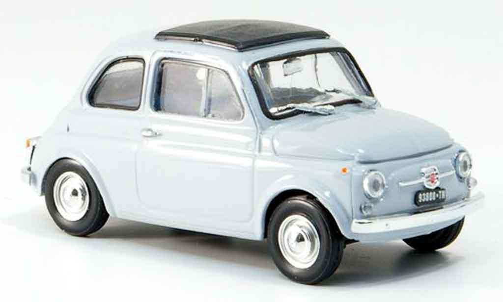 Fiat 500 1/43 Brumm F gray  avec capote Faltdach 1965 diecast