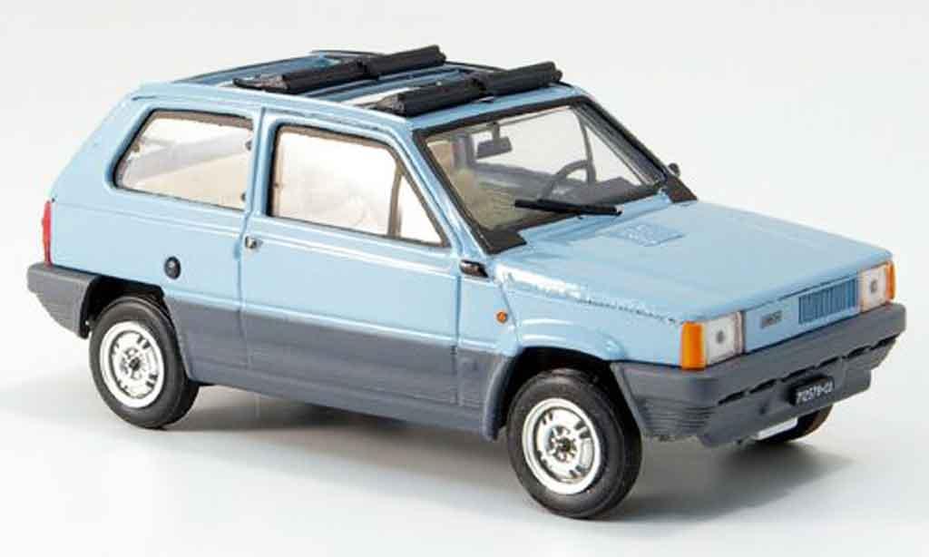 Fiat Panda 1/43 Brumm 45 bleu geoffnetes Doppelfaltdach 1981 miniature