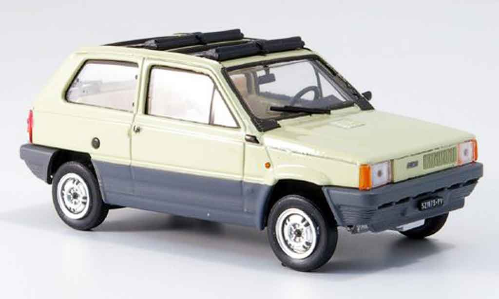 Fiat Panda 1/43 Brumm 45 beige geoffnetes Doppelfaltdach 1981 miniature
