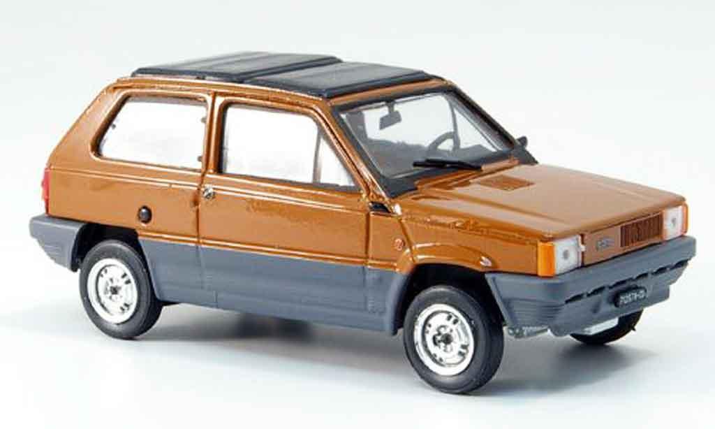 Fiat Panda 1/43 Brumm 45 marron  avec capote Doppelfaltdach 1981 miniature