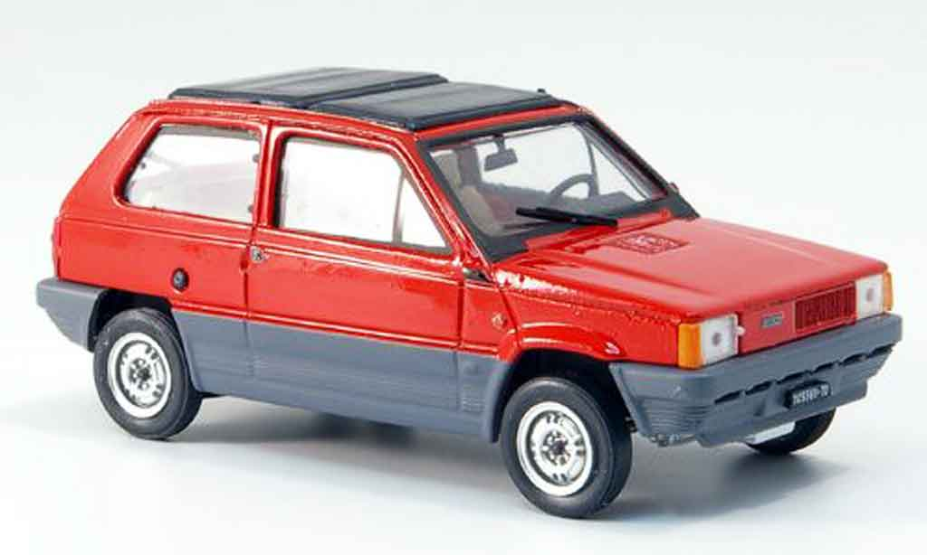 Fiat Panda 1/43 Brumm 45 rouge avec capote Doppelfaltdach 1981 miniature