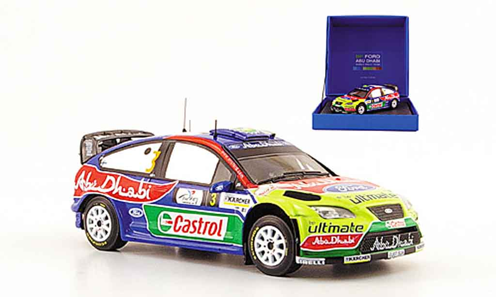 Ford Focus RS WRC 1/43 Ixo No.3 BP Abu Dhabi Rally Turkei 2008 miniature
