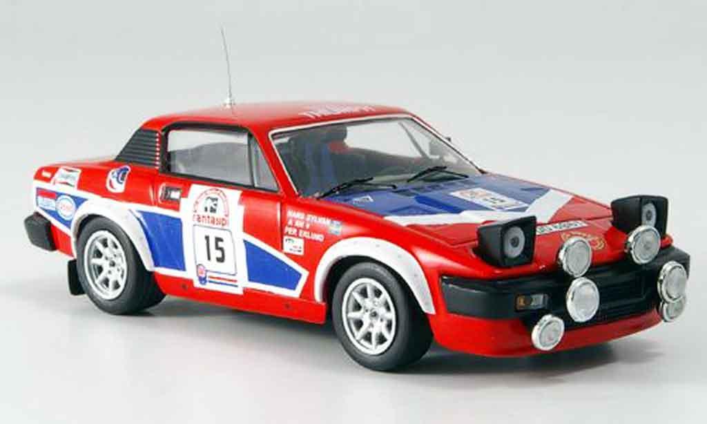 Triumph TR7 1980 1/43 IXO V8 No.15 Eklund Sylvan 1000 Lakes Rallye miniature
