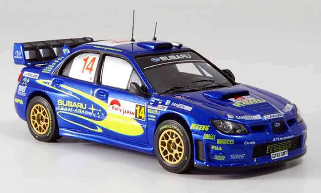 Subaru Impreza WRC 1/43 IXO no.14 arai sircombe rallye japan 2006 miniature
