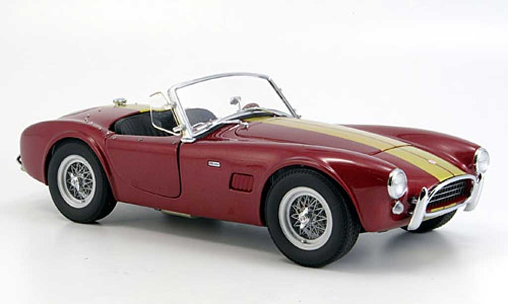 Shelby Ac Cobra 1/18 Exoto 289 rouge avec bandes 1963 miniature