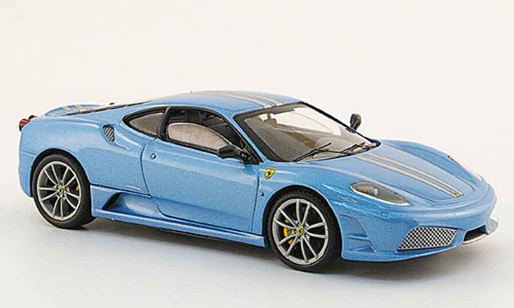 Ferrari F430 Scuderia 1/43 Hot Wheels Elite bleu miniatura