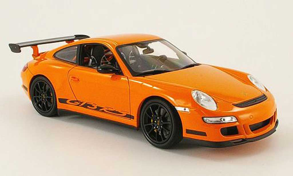 Porsche 997 GT3 RS 1/18 Welly orange miniature