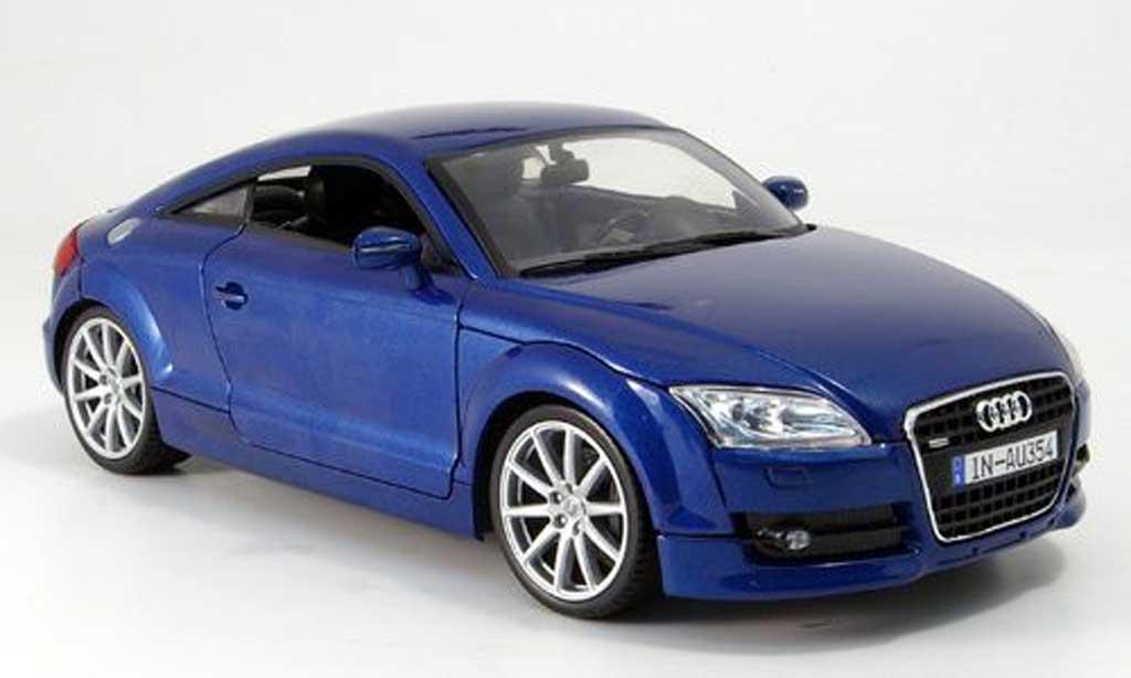 Audi TT coupe 1/18 Mondo Motors bleu miniature