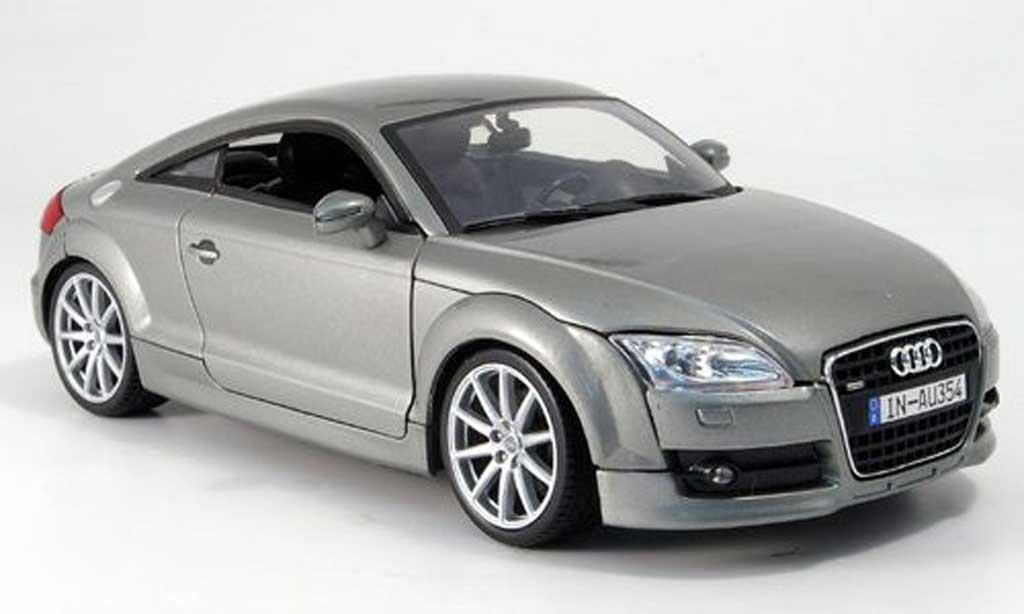 Audi TT coupe 1/18 Mondo Motors gray diecast