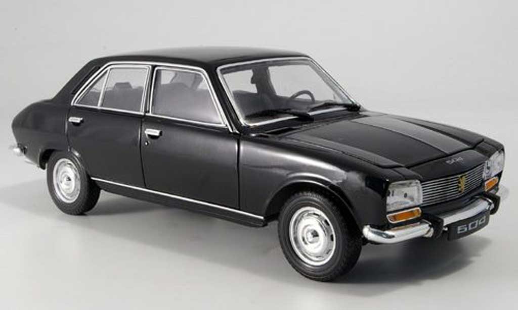 Peugeot 504 Berline 1/18 Welly noire 1975 miniature