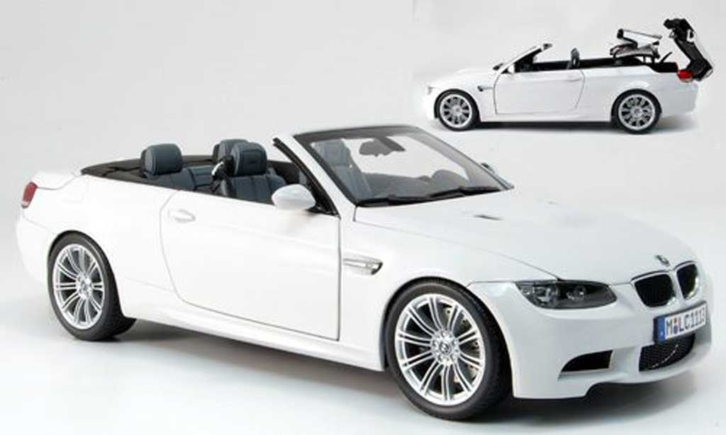 Bmw M3 E93 1/18 Kyosho cabriolet white diecast model cars