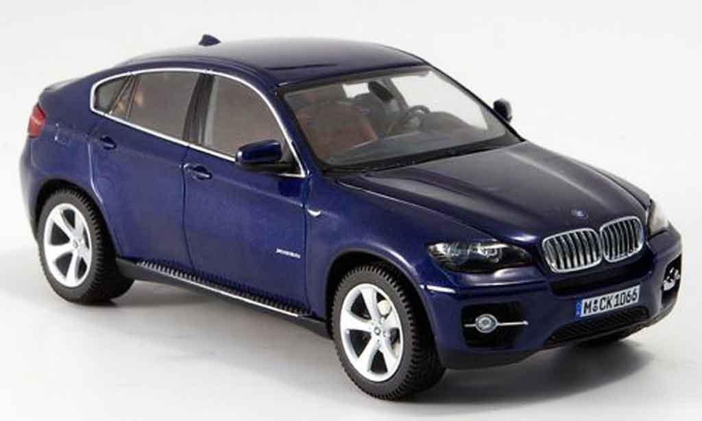 Bmw X6 E71 1/43 Schuco xDrive 50 i bleu 2008 miniature