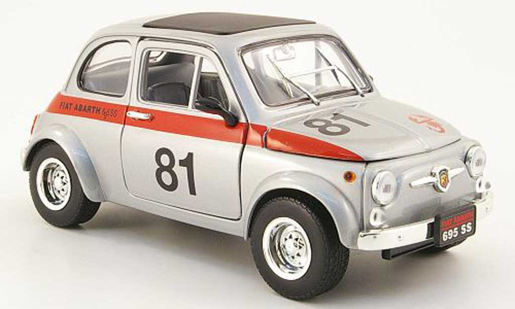 Fiat 500 Abarth 1/18 Mondo Motors 695ss grey no.81 diecast model cars