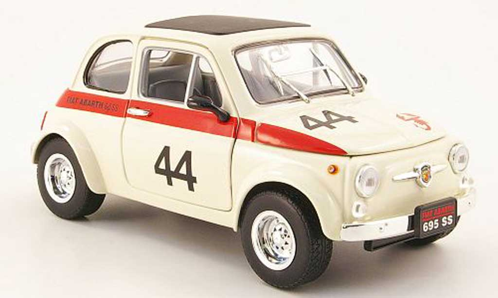 Fiat 500 Abarth 1/18 Mondo Motors 695ss white no.44 diecast