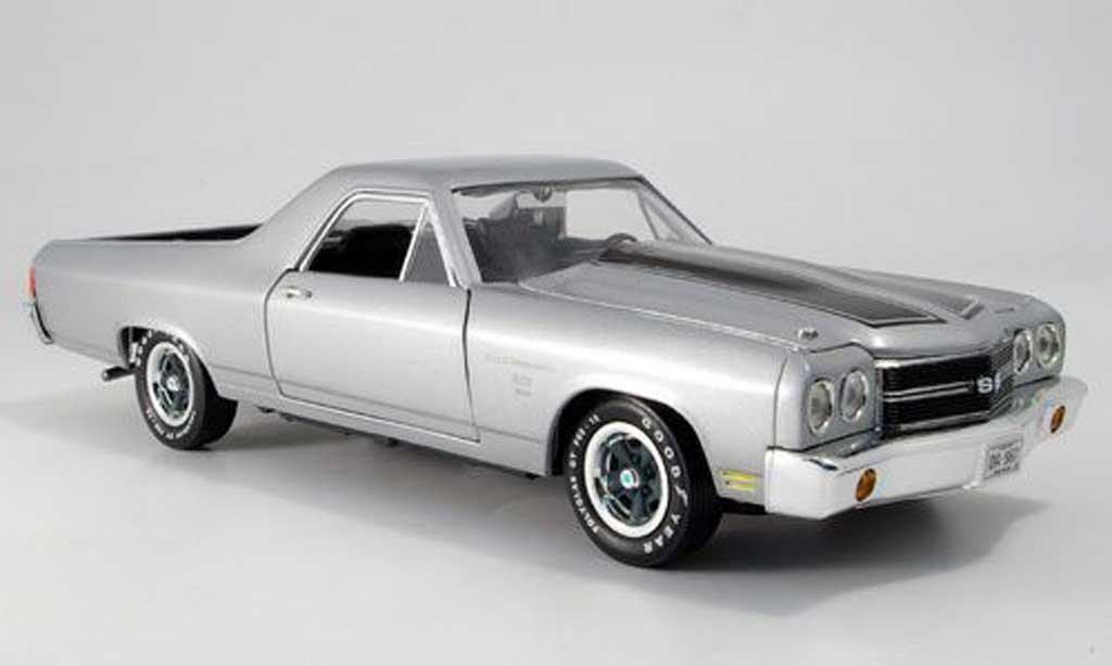 Chevrolet El Camino 1/18 Ertl ss gray 1970 diecast