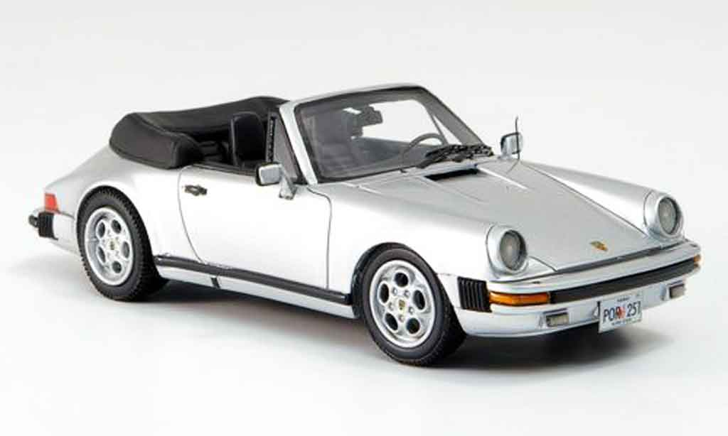 Porsche 930 1/43 Neo Carrera Cabrio grise metallisee US Version 1985 miniature