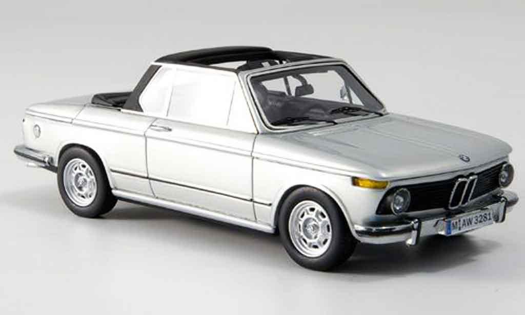 Bmw 2002 Tii 1/43 Neo E10 Baur Cabrio grise metallisee 1974 miniature