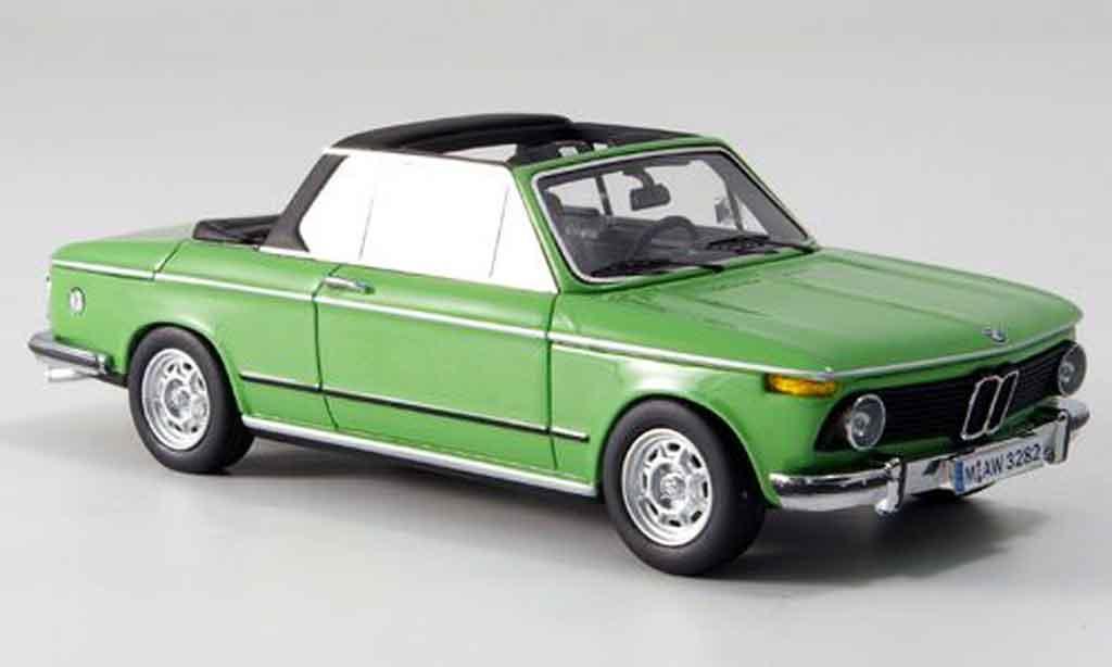Bmw 2002 Tii 1/43 Neo E10 Baur Cabrio verte 1974 miniature