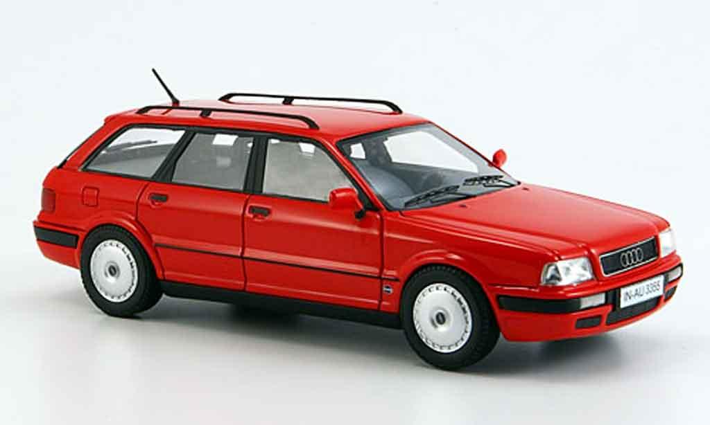 Audi 80 1/43 Neo (B 4) Avant rouge miniature