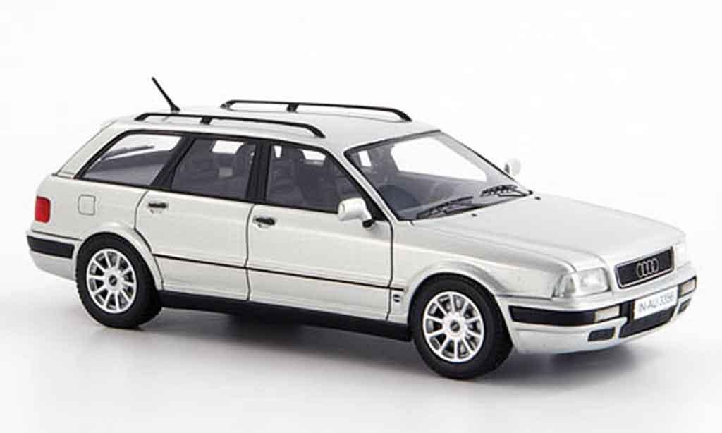 Audi 80 1/43 Neo (B 4) Avant grise metallisee miniature
