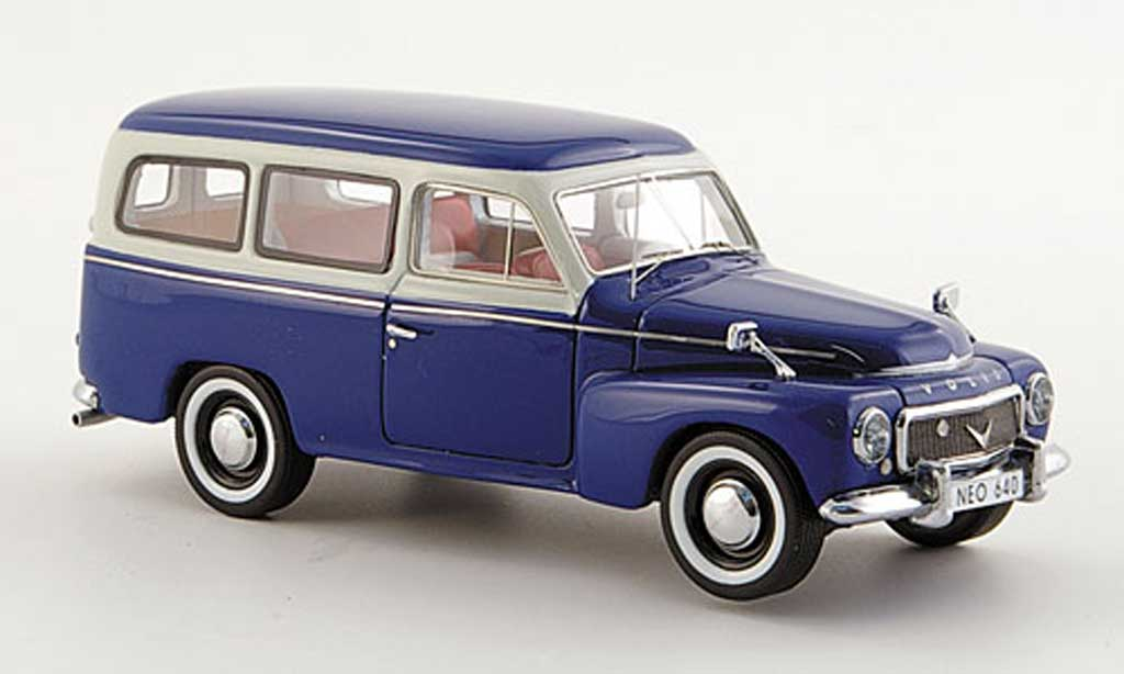 Volvo PV 445 1/43 Neo duett bleu/gris  1956 miniature