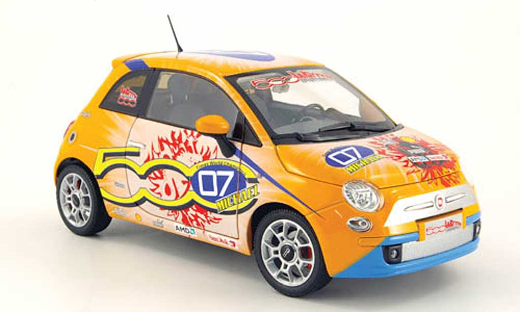 Fiat 500 Schumacher 1/18 Norev Schumacher michael orange wroom version 2008 diecast model cars