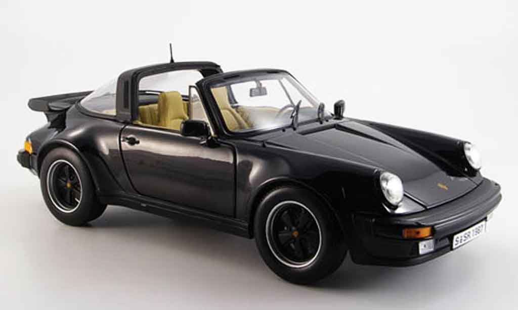 Porsche 930 Turbo 1/18 Norev 3.3 targa black 1987 diecast model cars