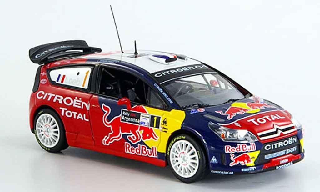 Citroen C4 WRC 2008 1/43 Norev red bull argentine miniature