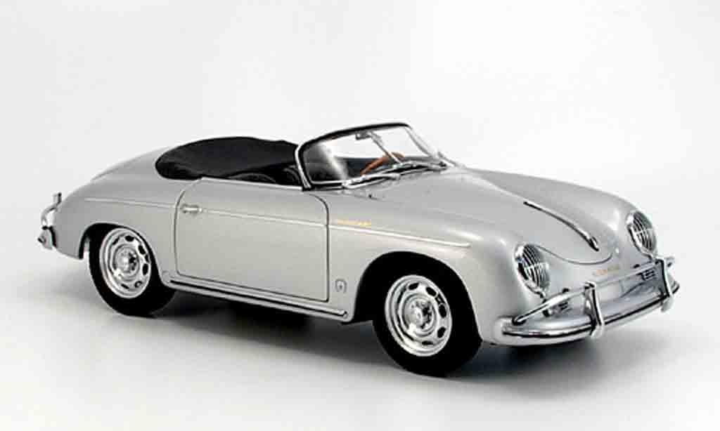 Porsche 356 1/18 Autoart A speedster grise miniature