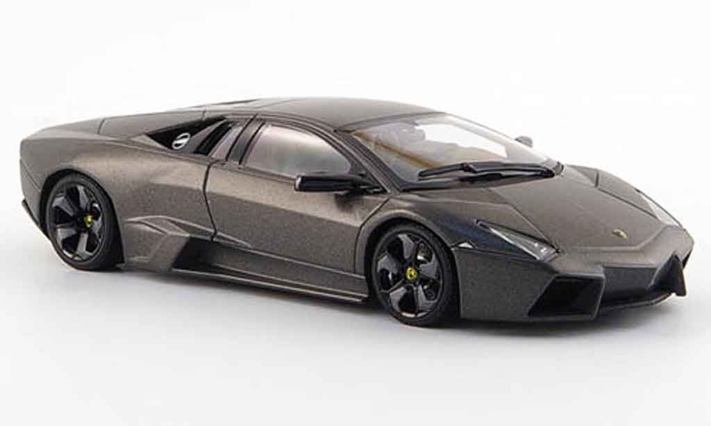 Lamborghini Murcielago Reventon 1/43 Autoart grise miniature
