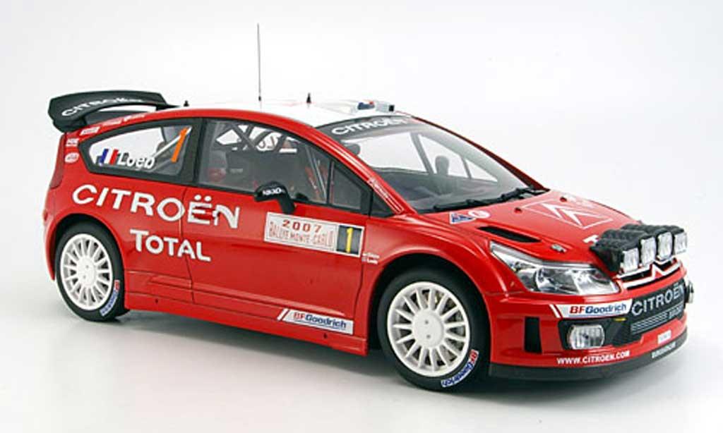 Citroen C4 WRC 1/18 Autoart no.1 loeb/elena sieger monte carlo 2007 miniature