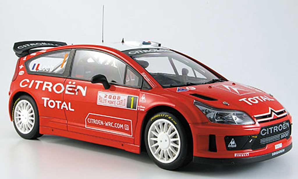 Citroen C4 WRC 1/18 Autoart loeb/ elena noo.1 rallye monte carlo 2008 miniature