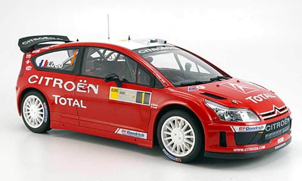 Citroen C4 WRC 1/18 Autoart loeb/ elena no.1 sieger brd rallye 2008 miniature